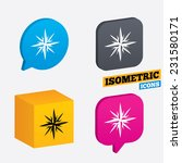 compass sign icon. windrose... | Shutterstock .eps vector #231580171