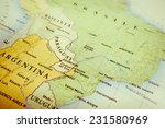 South America Map Geographical View - Fine Art prints