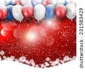 balloons and snowflake...   Shutterstock .eps vector #231583429