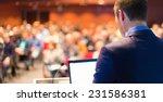 speaker at business conference... | Shutterstock . vector #231586381