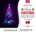 christmas shining typographical ... | Shutterstock .eps vector #231590779