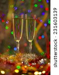 two champagne glasses ready to... | Shutterstock . vector #231603139