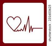 icon flat  element design heart ... | Shutterstock . vector #231603625