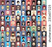 collection of avatars4    81... | Shutterstock .eps vector #231607225