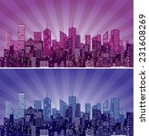 vector abstract cityscape with... | Shutterstock .eps vector #231608269