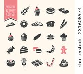 bakery  pastry icon set | Shutterstock .eps vector #231608974