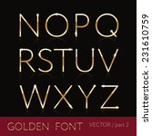 golden font set  elegant thin... | Shutterstock .eps vector #231610759