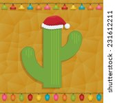 mexican themed christmas... | Shutterstock .eps vector #231612211