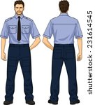 the suit for the security guard ... | Shutterstock .eps vector #231614545