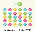 baby shower colorful flat icons ... | Shutterstock . vector #231619795