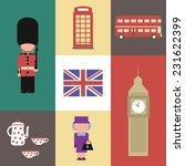 flat  icon vector of england... | Shutterstock .eps vector #231622399