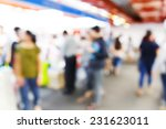 abstract blurred people walking ... | Shutterstock . vector #231623011