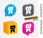 tooth happy face sign icon....   Shutterstock .eps vector #231625471