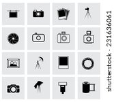 vector photo icon set on grey... | Shutterstock .eps vector #231636061