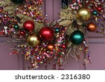 beautiful xmas decorations - stock photo