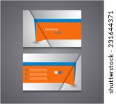 business card set eps 10 vector. | Shutterstock .eps vector #231644371