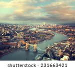 london aerial view with  tower... | Shutterstock . vector #231663421