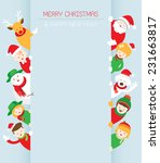 christmas  family  people with... | Shutterstock .eps vector #231663817