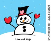 little snowman   valentine's | Shutterstock . vector #231666805