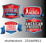 american made in usa retro... | Shutterstock .eps vector #231669811