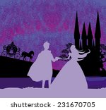 magic castle and princess with... | Shutterstock .eps vector #231670705