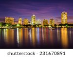 the skyline at night seen from... | Shutterstock . vector #231670891