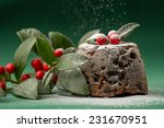 Christmas Pudding With Winter...