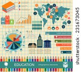 education school infographics.... | Shutterstock .eps vector #231673045