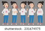 cartoon style asian girl in... | Shutterstock .eps vector #231674575