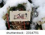needlepoint joy ornament - stock photo