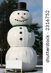 gigantic snowman - stock photo