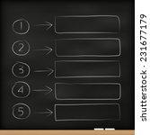 template chalk blackboard line... | Shutterstock .eps vector #231677179