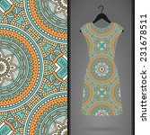 card with dress and pattern.... | Shutterstock .eps vector #231678511