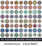mandala. round ornament pattern....   Shutterstock .eps vector #231678607