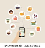 food background   food blogging ... | Shutterstock .eps vector #231684511