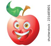 red apple laughing cartoon... | Shutterstock .eps vector #231685801
