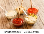 different sauces | Shutterstock . vector #231685981