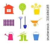 garden icon set. icons set... | Shutterstock .eps vector #231686185