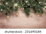 christmas fir tree with... | Shutterstock . vector #231690184