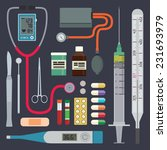 medical instruments and...   Shutterstock .eps vector #231693979