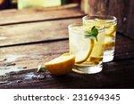 Lemonade With Fresh Lemon On...