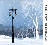 Christmas Winter Cityscape Wit...