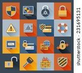 security computer network data... | Shutterstock .eps vector #231695131