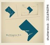 modern map   washington d.c. usa   Shutterstock .eps vector #231696094