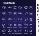 pharmaceutical medical icons... | Shutterstock .eps vector #231702757