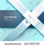 x shape architectural... | Shutterstock .eps vector #231703729