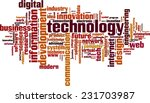 Technology Word Cloud Concept....