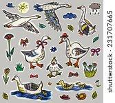 goose pattern | Shutterstock . vector #231707665