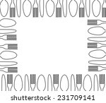 cutlery  background  menu with...   Shutterstock .eps vector #231709141