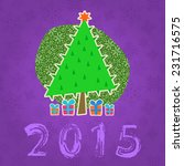 new year tree illustration.... | Shutterstock .eps vector #231716575